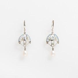 Earrings Shakudo Topaz