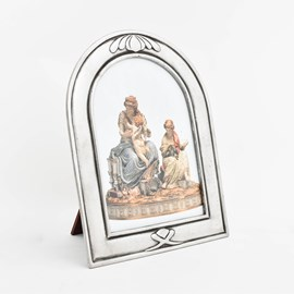 Picture Frame Window Silver Tin