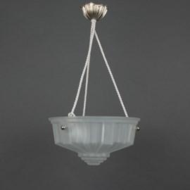French Art Deco Hanging Lamp Geometrique
