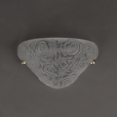 French Art Nouveau Wall Lamp Roses