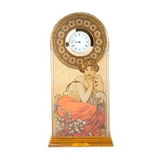 Table Clock Mucha Topaz