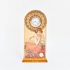 Table Clock Mucha Topaz