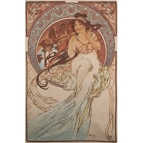 Tapestry Mucha La Musique