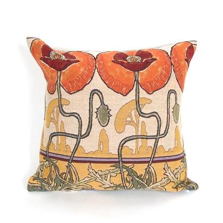 Cushion Art Nouveau Pavots