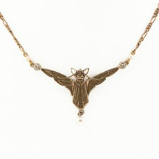 Jugendstil Necklace Bat