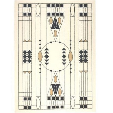 Geometric Art Nouveau Carpet 1905 Otto