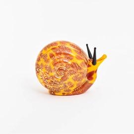 Glass Sculpture Snail Yellow
