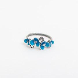 Ring Aqua Flower