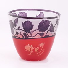 Glass Bowl Sublime Magnolia Purple