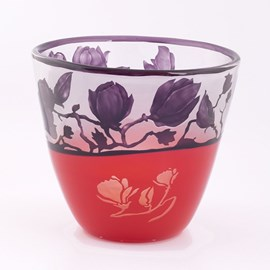 Glass Bowl Sublime Magnolia Purple