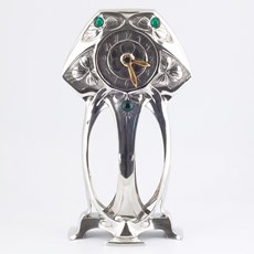 Pewter Art Nouveau Clock Myrtle
