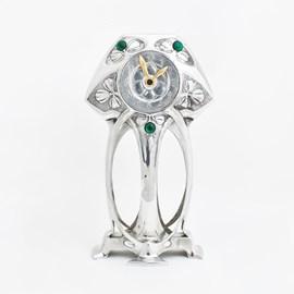 Pewter Art Nouveau Clock Myrtle