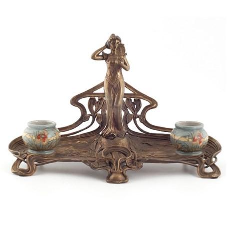 Bronze Ink Pot Valery