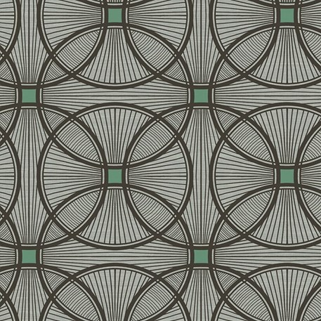 Art Deco wallpaper Carraway in black