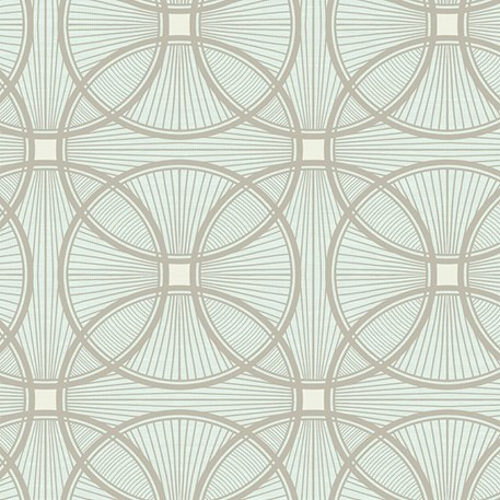Art Deco wallpaper Carraway in light blue