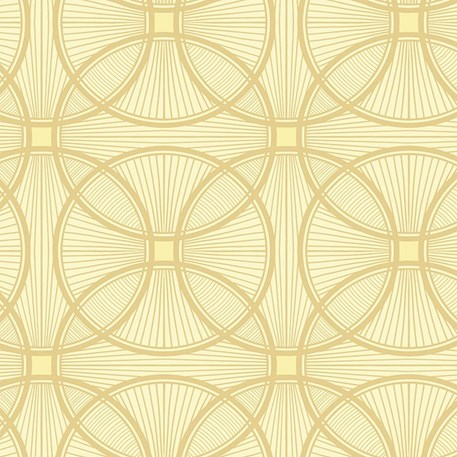 Art Deco wallpaper Carraway in light yellow