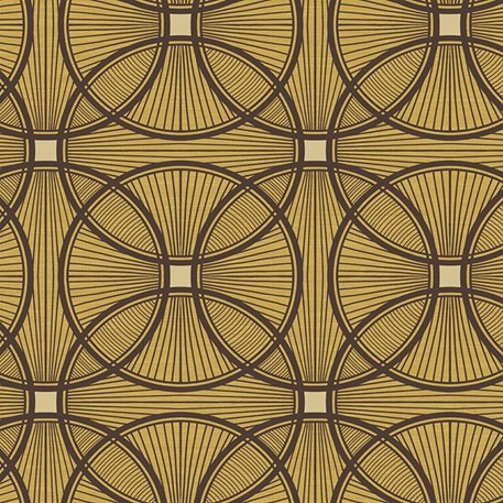 Art Deco wallpaper Carraway in gold