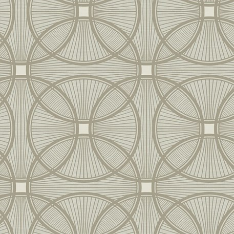 Art Deco wallpaper Carraway in grey