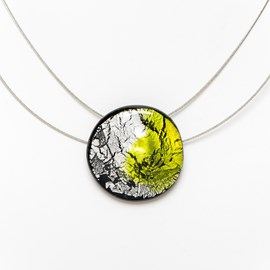 Necklace Midnight Moon Peridot/Zilver