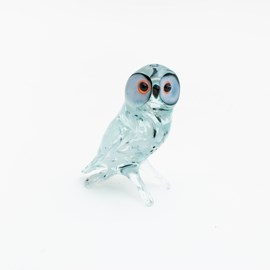 Glass Sculpture Snowy Owl