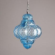 Venetian Hanging Lamp Small Bellezza Aquamarine