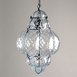 Venetian Hanging Lamp Medium Bellezza Transparent