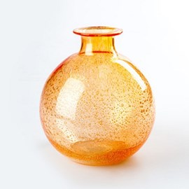 Orange! Globe Vase Bubble