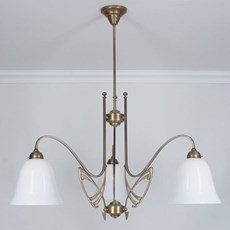 Victor Horta 3-light Chandelier Elegance