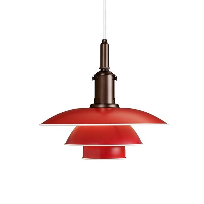 Louis Poulsen PH 3½-3 Hanging Lamp in red