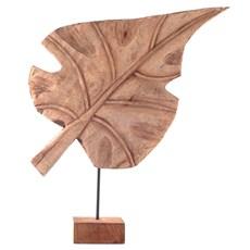 Wooden Sculpture Leaf