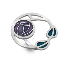 Scarf ring Mackintosh Rose & Leaves