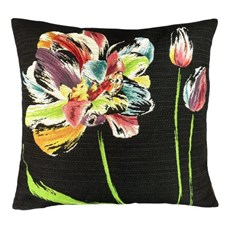 Cushion Three Colourful Tulips