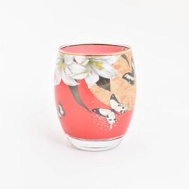 Tea-Light Lilies and Butterflies Red