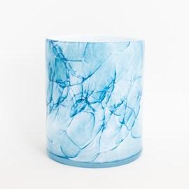 Cylinder Vase Marble Blue