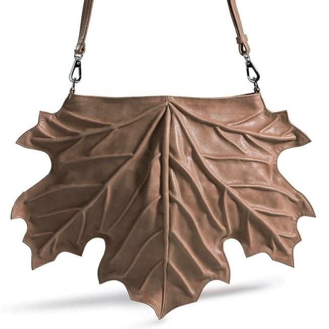 Handbag Maple Leaf Taupe