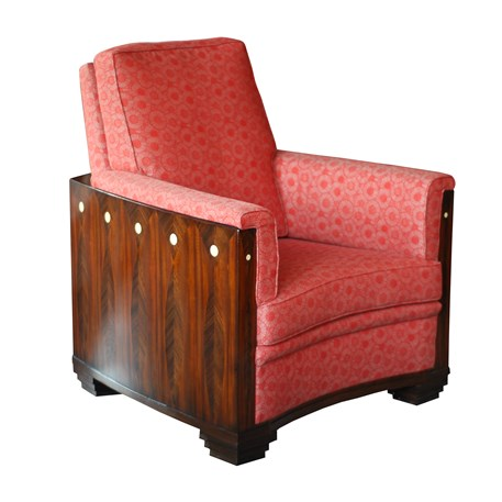 Front Armchair Amice with Furniture Fabric Marguerite