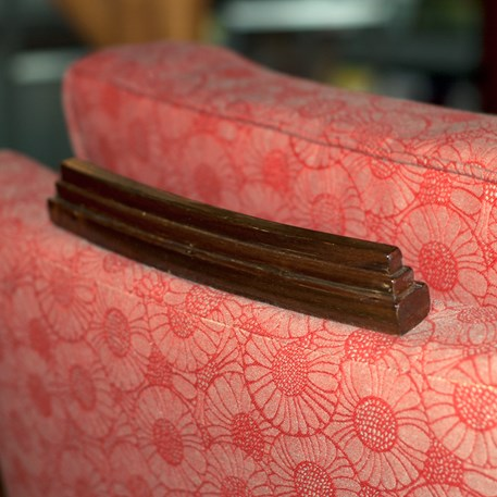 Detail Armchair Amice with Furniture Fabric Marguerite