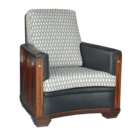 Front Armchair Amice with Furniture Fabric Peacock Eye