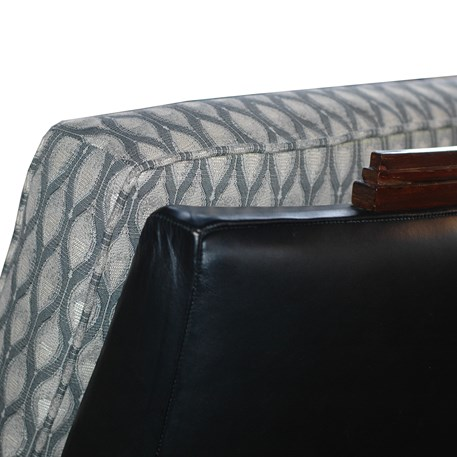 Detail Armchair Amice with Furniture Fabric Peacock Eye