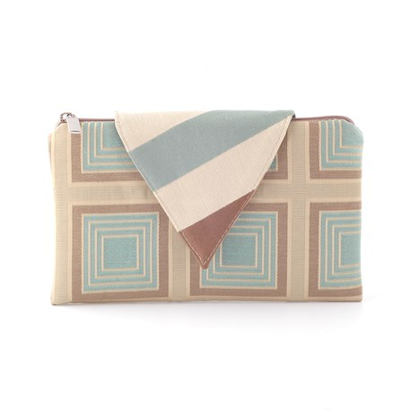 Clutch / Evening Bag Nathalie | Cubic Light Blue