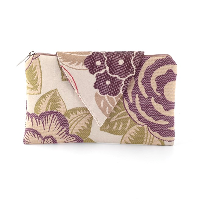 Clutch / Evening Bag Nathalie   Flowery Purple