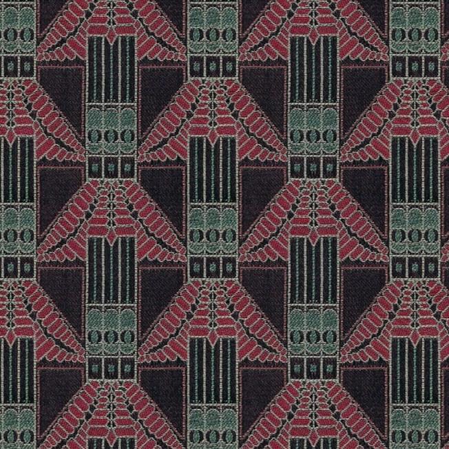 Furniture / Curtain Fabric Trapeze Red