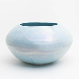 Vase Luster Light Blue