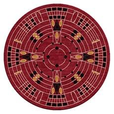 Round Rug Geometric