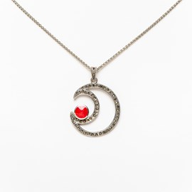Necklace Red Moon