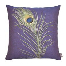 Cushion Peacock Feather | Purple