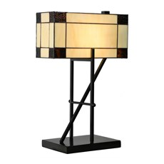 Tiffany Table Lamp Geometric