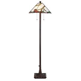 Tiffany Floor Lamp Exotic Maple