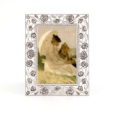 Photo Frame Silver Roses