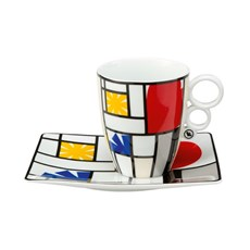 Mondrian Cup and Saucer